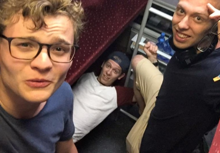 The boys in a night train