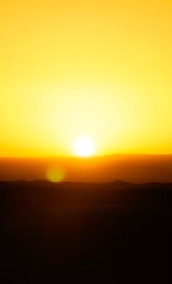 Sun at full rise